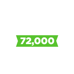 72,000 hours served