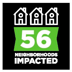 56 neighborhoods impacted
