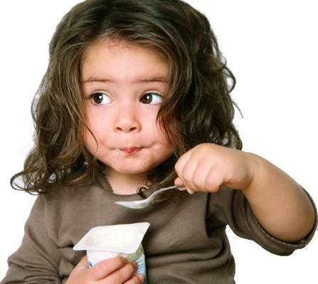 Girl with spoon flip